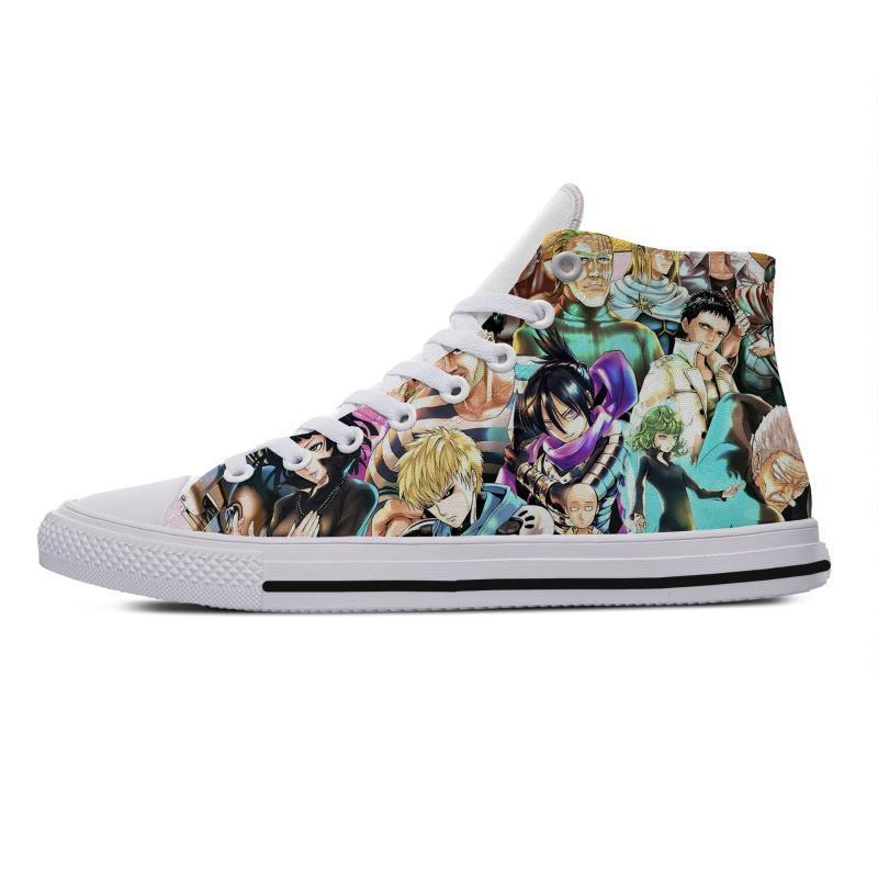 Men Walking Shoes Cute Anime One PunchComfortable scarpe traspiranti Maschio Zapatos Hombre Sapatos Outdoor personalizzate
