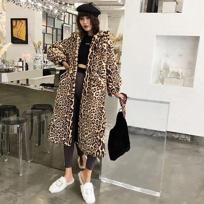 2018 nuevo estilo de gama alta moda mujer abrigo de piel sintética C20