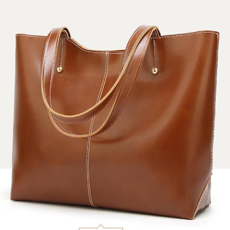 2021 borse borse designer grande olio casual in pelle PU in pelle di lusso borse dsuxp Capacità nera spalla donne women womens tote xxgku