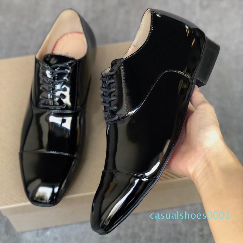 Мужская красная нижняя одуванчик Шипы обувь дизайнер Greggo Orlato плоские туфли черный лакированная кожа sude бархат мокасины вечернее платье обувь AC01
