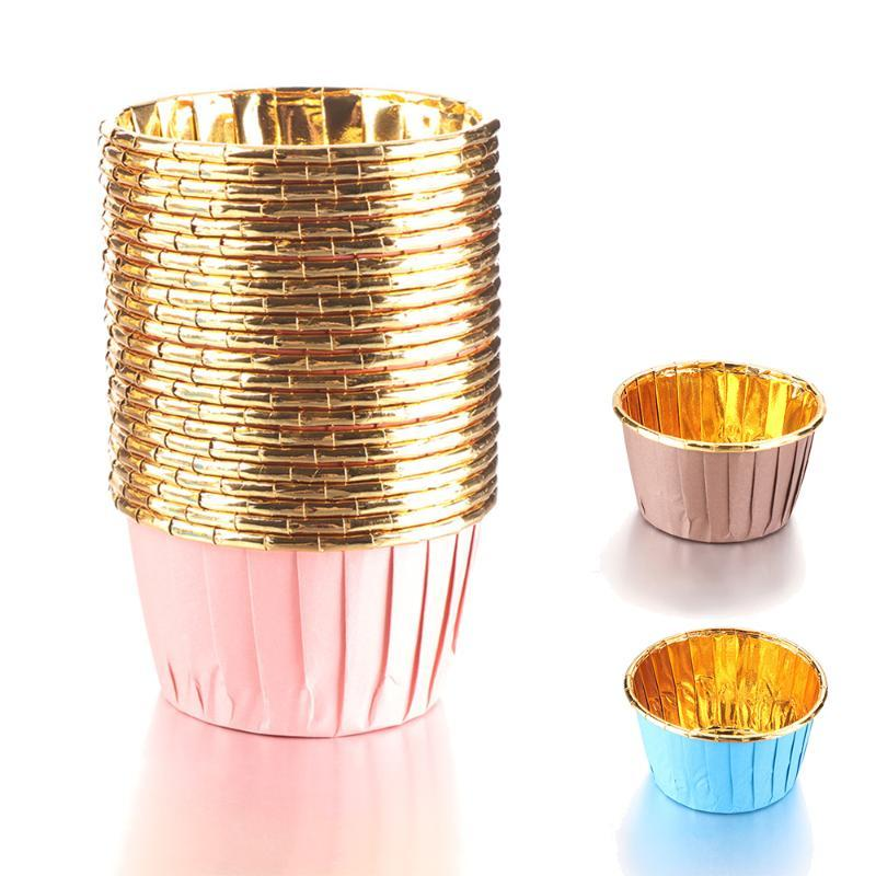 50Pcs Muffin Cupcake Liner Cake Wrappers Baking Cup Tray Case Cake Paper Cups DIY Pastry Tools Party Mini Pack Supplies