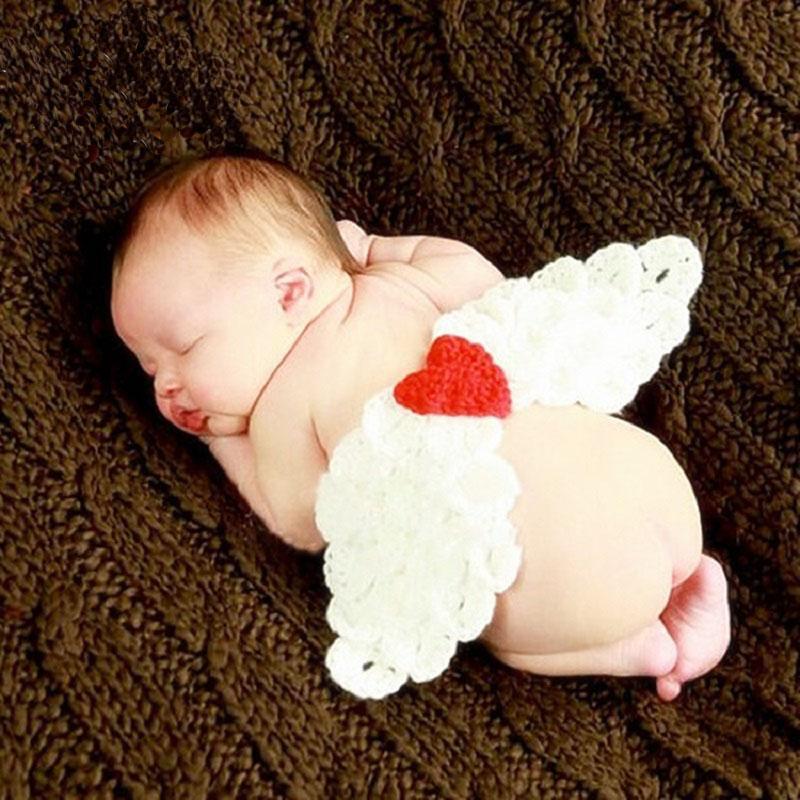الكروشيه أجنحة الملاك طفلة والتقطت الصور تتسابق عيد الحب الوليد التصوير الفوتوغرافي الدعائم الملابس اللوازم FOTOGRAFIA مستلزمات الحيوانات الأليفة