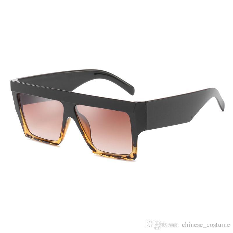 New Men's Big Box Sunglasses Men's Brand Designer Big Box Sunglasses Large Frame Goggles Europe and America Large Square Sunglasses Send Box