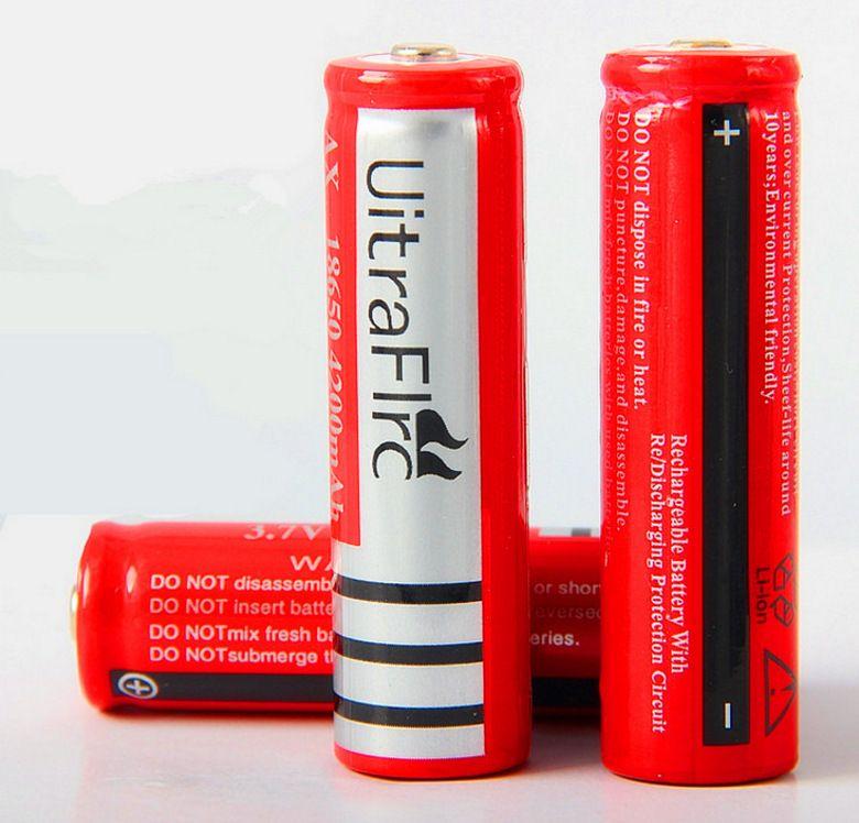 2019 nouveau Tot UltraFire 18650 4200mAh 3.7V Li-ion batterie rechargeable haute capacité lampe de poche LED appareil photo numérique chargeur de batterie au lithium