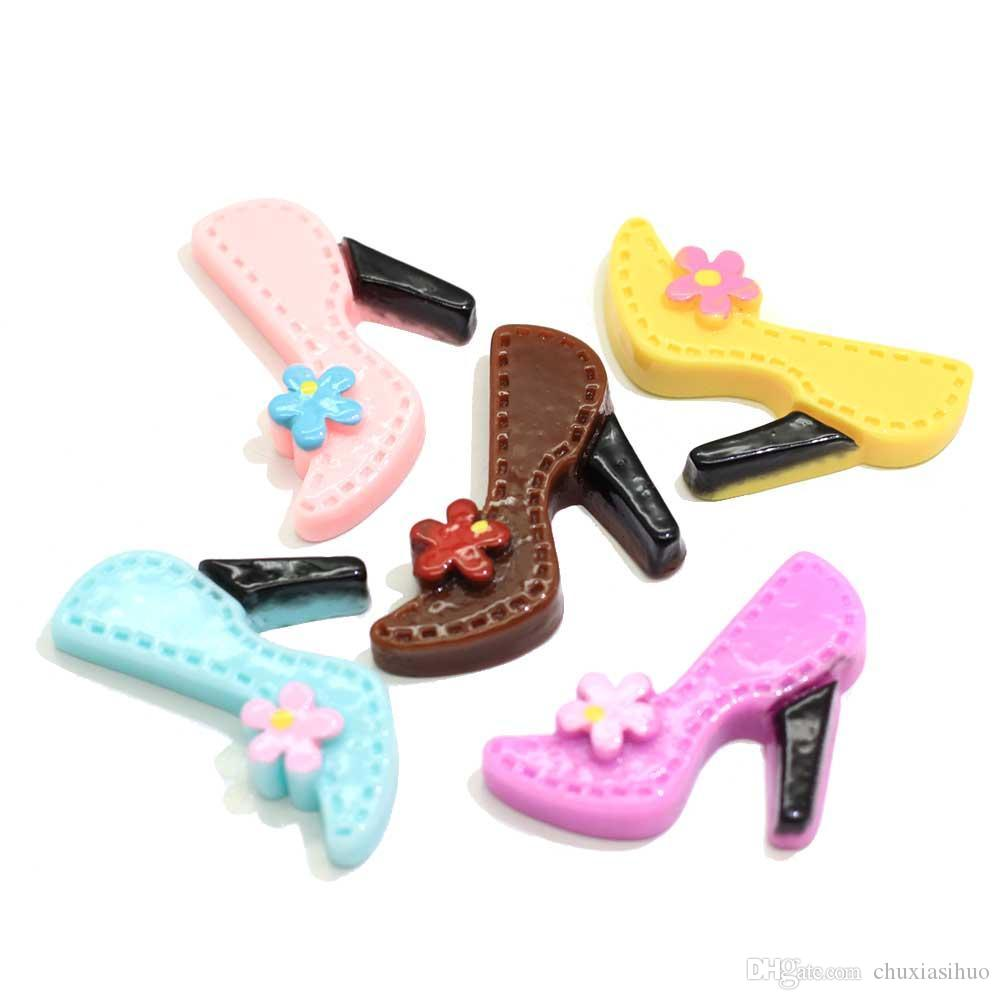 Pastel Fleur haute de promotion Talons Charms cabochons Flat Retour Girly embellissements Slime Accessoires Perles