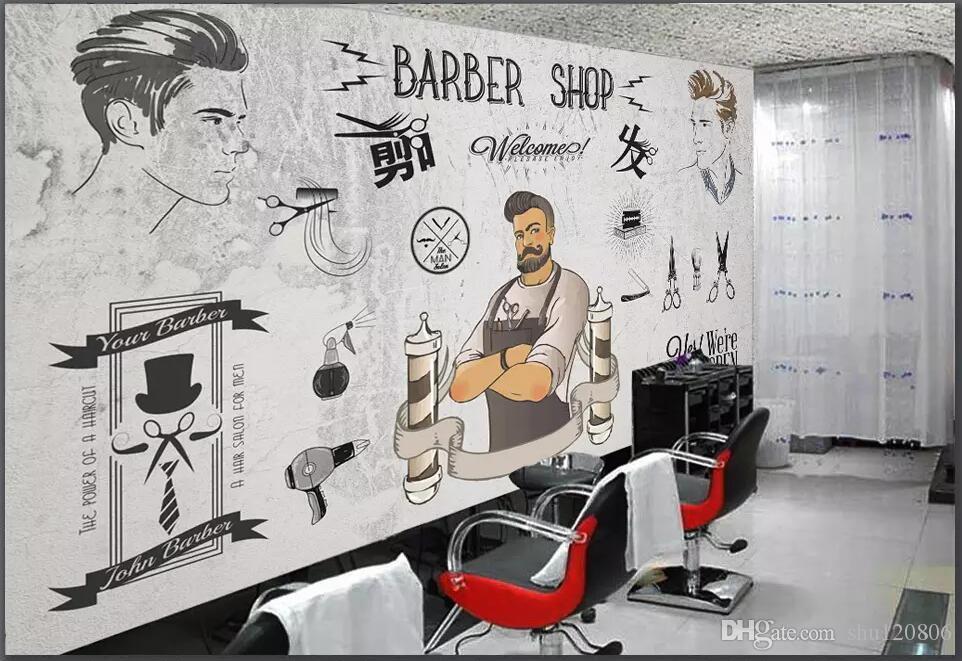 Fond d'écran 3d personnalisé photo tendance européenne et américaine salon de coiffure salon de beauté fond décoration de la maison salon papier peint pour les murs 3 d