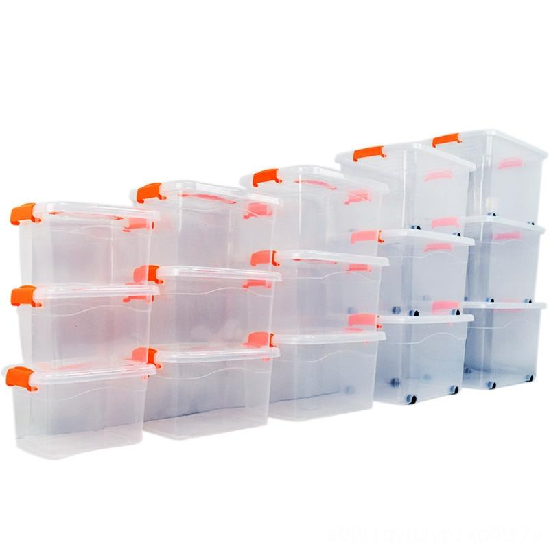 plastic transparent oversized children's toys with lid sorting portable storage box clothes storage box