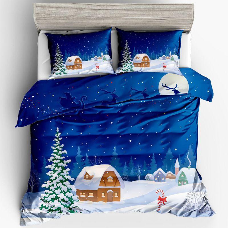 Soft Bedding Flower Animal Art Prnited 3PCS Duvet Set Duvet Cover Pillowcase Bedding Bag Sheet For TWIN Full QUEEN KING California King Size