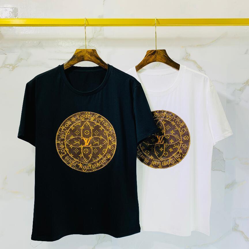 2020ss Designer Paris fãs camisetas Mens Vestuário Mulheres Verão Casual camisetas de algodão carta de moda de manga curta Medusa T Shirts452