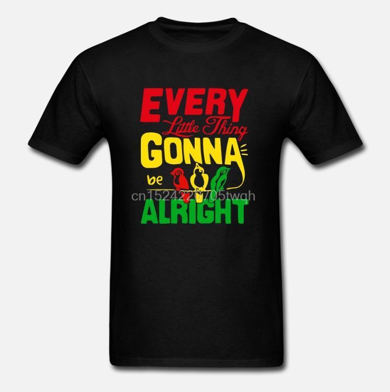 Злые рубашки-херрен футболка каждая мелочь будет в порядке Боб Марли