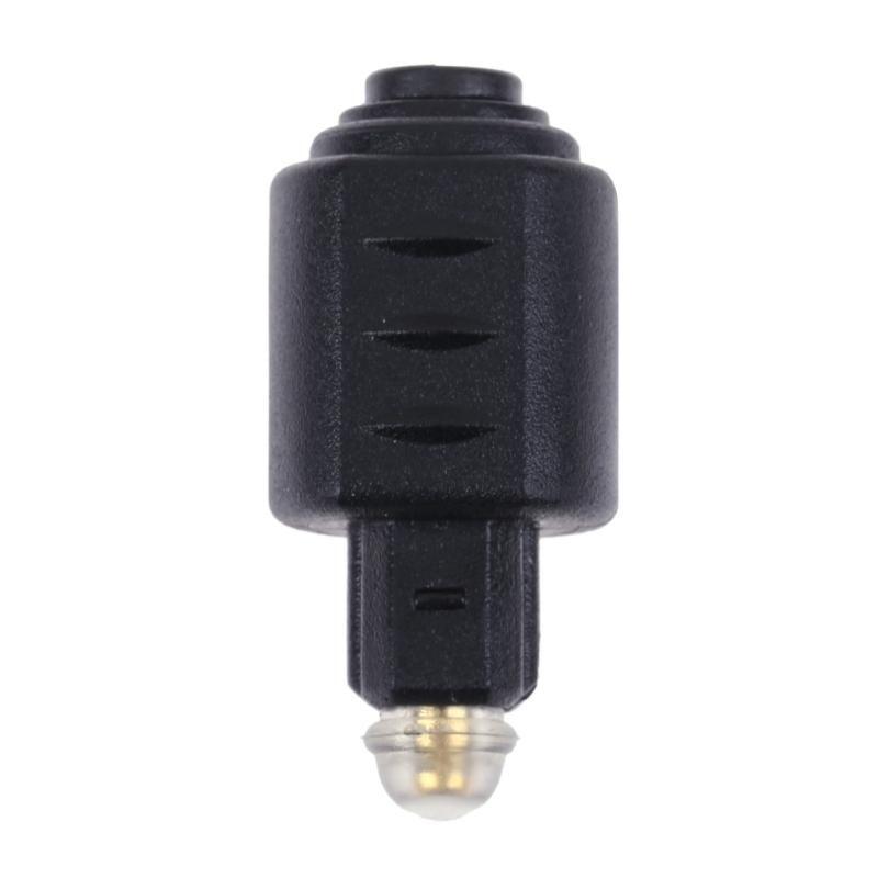 500pcs optique Toslink mâle à Mini de Toslink femelle Adaptateur audio Connecteur Adaptateur fibre optique pour DTS audio stéréo