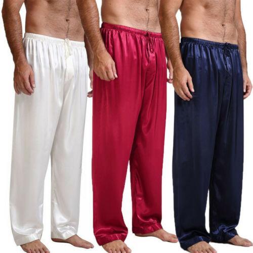 Été nouveaux hommes en vrac Pantalon satin Bas sommeil Vêtements de nuit en soie glace Accueil pyjamas vêtements de nuit Pantalons 4 couleurs