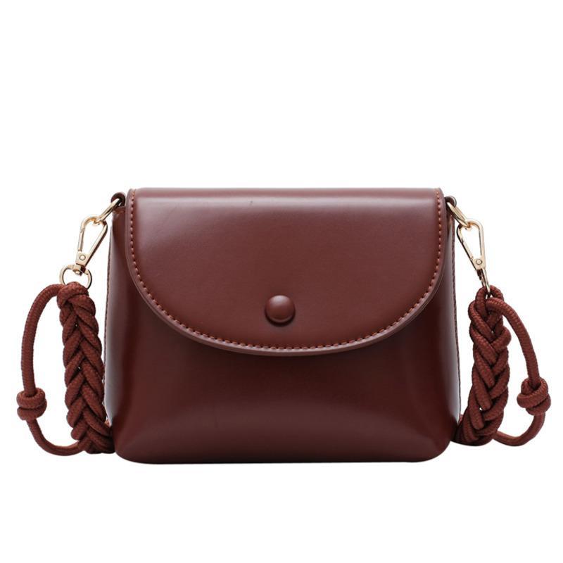 A tracolla in pelle PU Borsa per le donne borsa vintage di alta qualità solido modo di colore della vibrazione di Crossbody della spalla delle donne Strap
