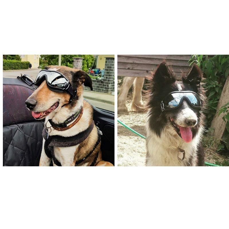 Pet supplies glasses dog supplies goggles waterproof windproof sunscreen UV dog silver cool design beautiful sunglasses universal