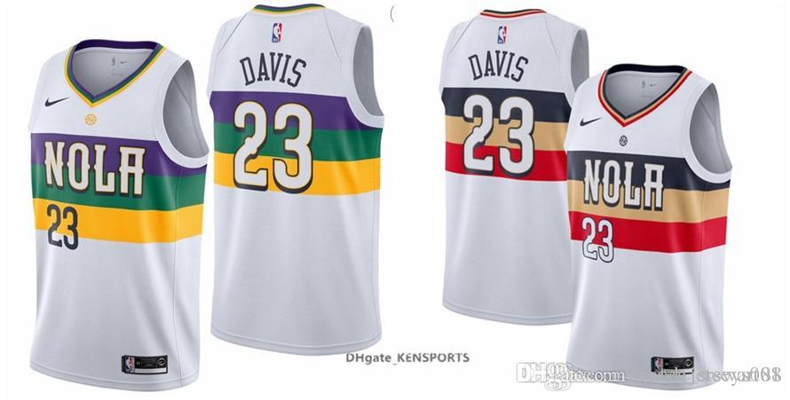 City Jerseys Style 23 Basketball Stitched White Men 2019 Davis Orleans Pelicans All Edition S-xxl New