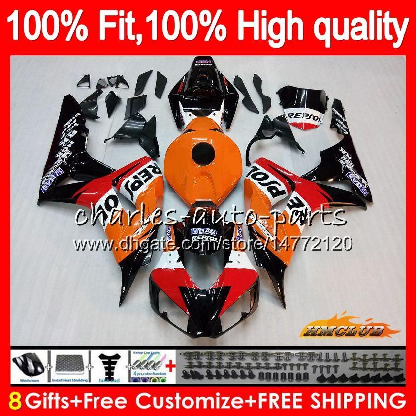OEM впрыска тела для Honda CBR 1000RR CBR1000 RR 06 07 78HC.0 CBR1000RR 06 07 CBR 1000CC 1000 RR 2006 2007 100% FIT FITAL REPSOL Orange