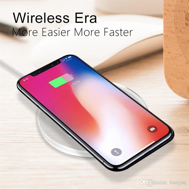 New Crystal Fandasy Qi Wireless Charger 5W Mini Charging Pad Micro USB Plug For iPhone X8plus Samsung Galaxy S789plus Note89 With Package