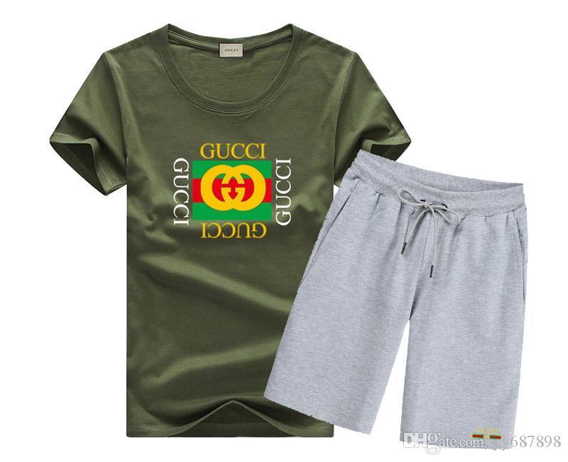 Бесплатная доставка 2019ss новый летний тонкий мужская спортивная одежда повседневная с короткими рукавами костюм футболка мода дышащая 3B