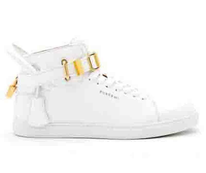 Super Designer Marca Locks Homens Sports Sneakers Top Couro Moda Homens confortáveis Casual sapatas lisas sapatos Bloquear sapatos branco preto vermelho