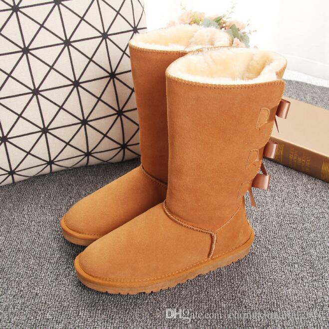 Brand 2020 Winter Tall Boots РГД Боутите кристаллических женщина Австралии Классической моды Марка Колено полусапожки Черного Серый каштан девушка женщины снег