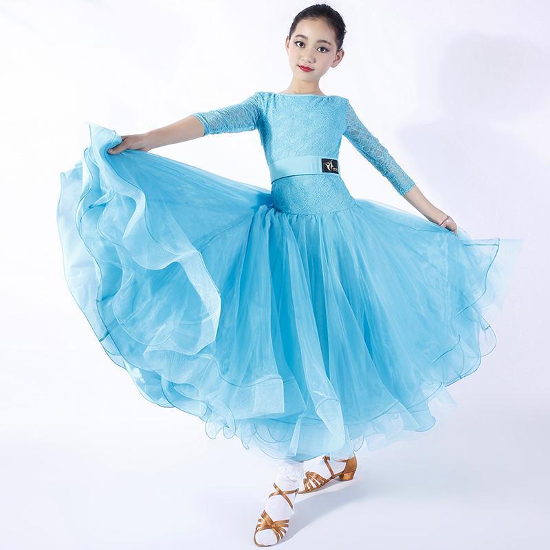 Abiti da ballo standard per bambini Ballo da sala del vestito dalle ragazze Waltz abito della frangia di ballo di usura vestiti spagnoli Spagna Kids Clothes S527