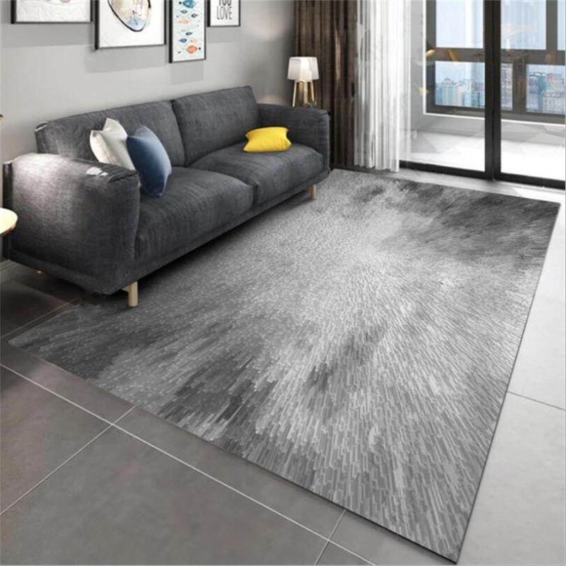 Area Rug For Living Room 3D Abstract Cylindrical Gray Pattern