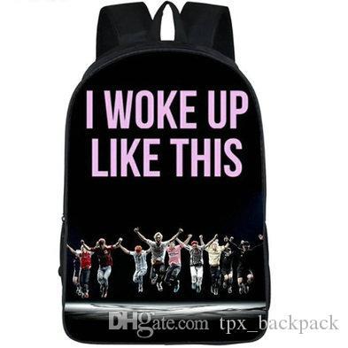 استيقظت من هذا القبيل على ظهره BTS day pack حقيبة مدرسية ضد الرصاص Bangtan boys packsack صورة حقيبة الظهر الرياضة المدرسية daypack