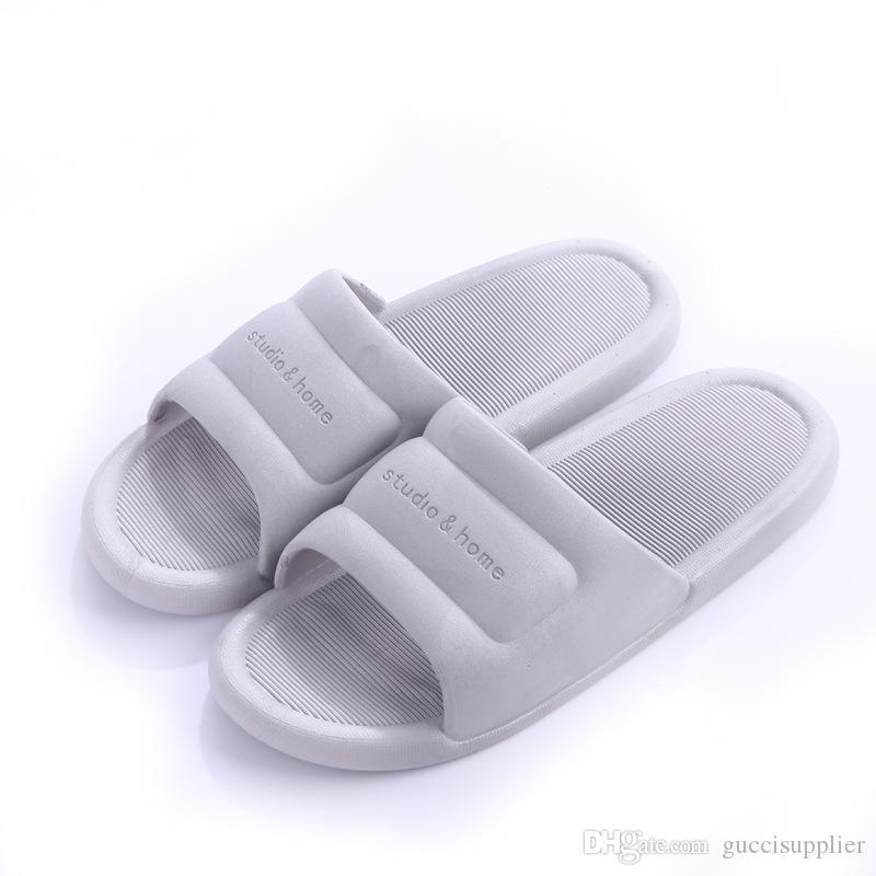 G40 мода 19SS женщины мужчины тапочки твердые крытый тапочки обувь анти-скольжения мягкие домашние тапочки шлепанцы дамы тапочки