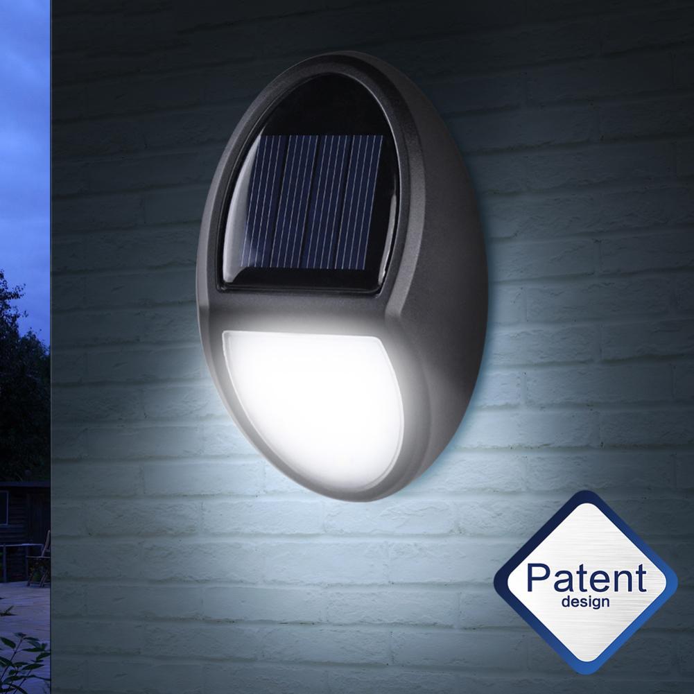 1/2/3 pcs Solar Energy 10LED Garden Fence Lamp Corridor Wall Lamp Induction villa Outdoor waterproof light control wall light