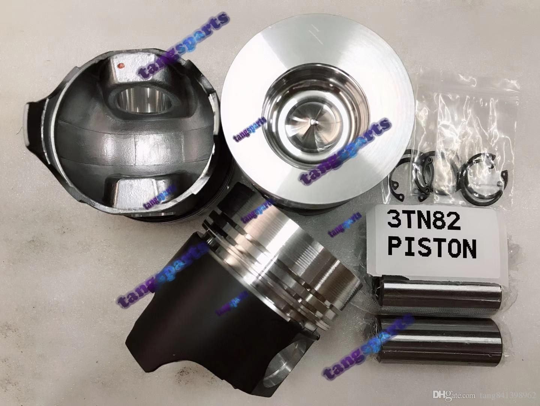 3TN82 piston & Pin & Clips & Rings for YANMAR engine fit forklift diesel excavator engine overhaul repair parts
