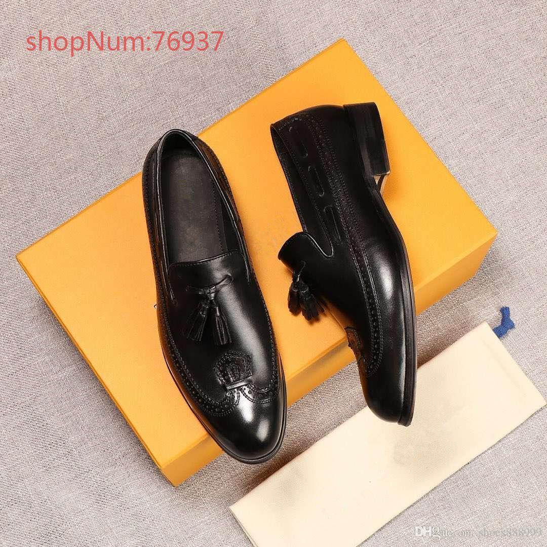 louis vuitton LV 2019 nouveau style chaussures en cuir de mode respirant marche Causal chaussures hommes mocassins plats hommes chaussures grande taille 38-45 A4