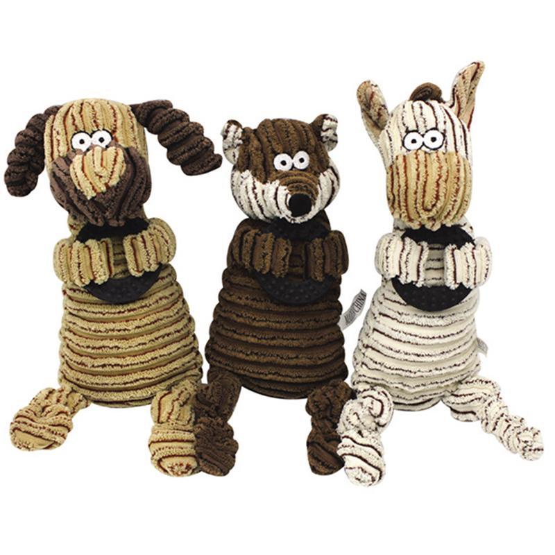 Forma animales muerde perro Mascotas Resistente Chew juguetes para perros pequeños interactivo Squeak perro de perrito de juguete para mascotas Accesorios Juguete Perro