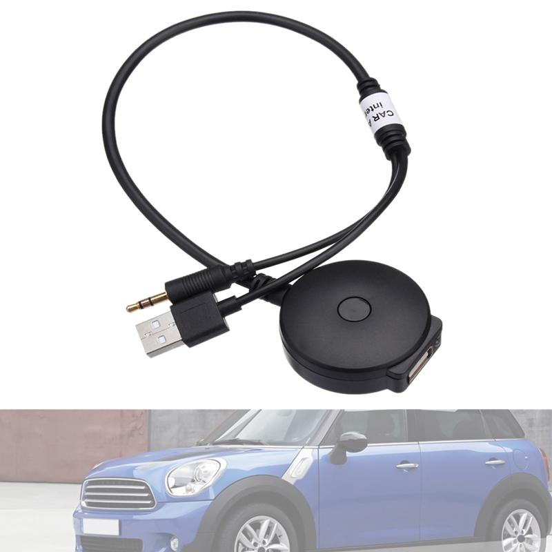 Car Wireless Bluetooth Audio AUX and USB Music Adapter Cable for Mini Cooper