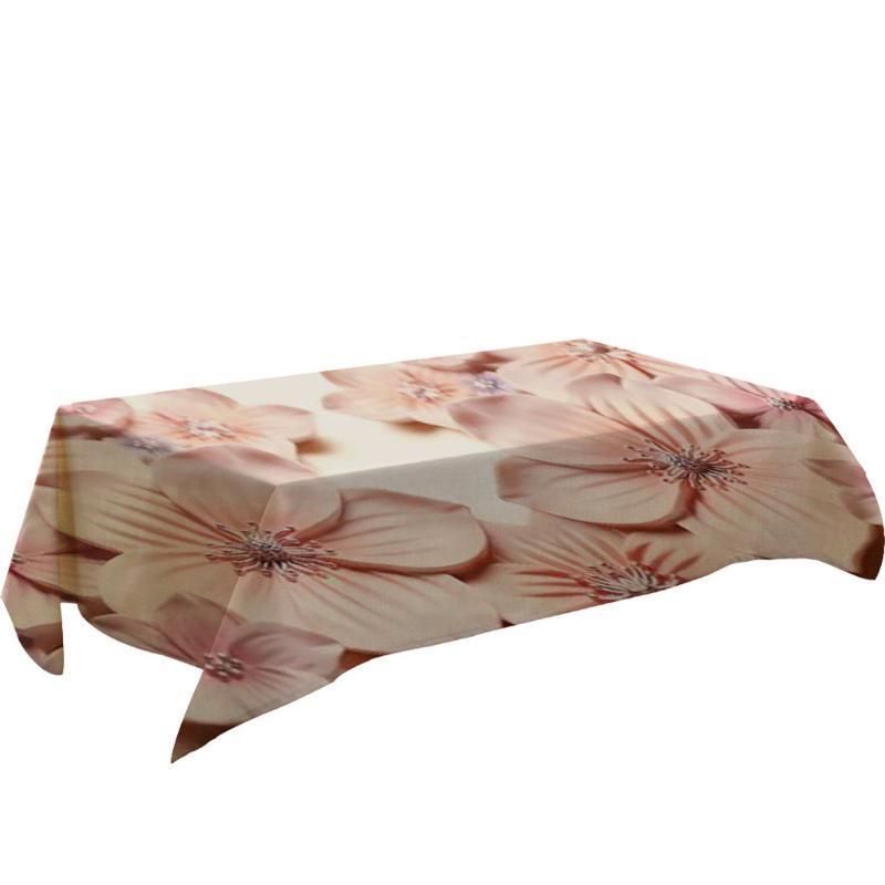 Pano de tabela Flor Primeval 3D retangular tampa Mesa de Refeição Home Decor pano toalha de mesa tampa Toalha de Mesa
