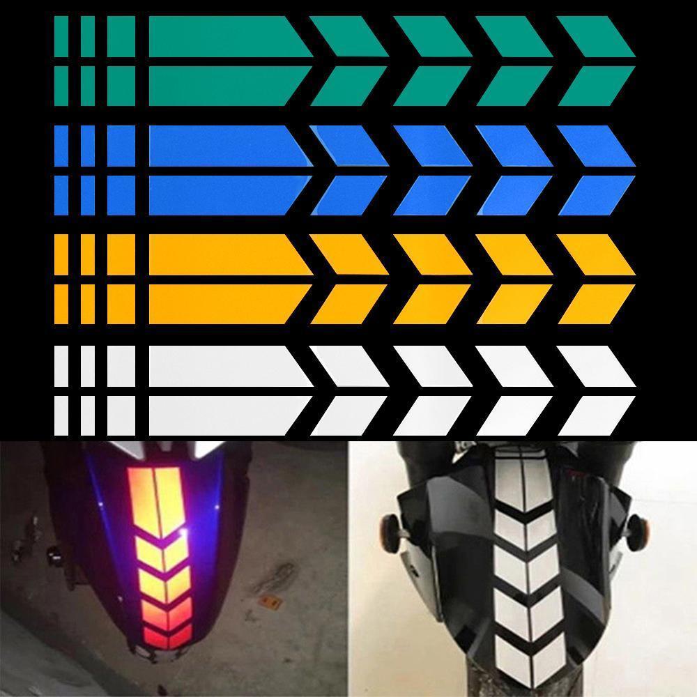 Moto réfléchissant Autocollants moto autocollants réfléchissants roue autocollant de voiture autocollant sur Fender 34x5cm étanche