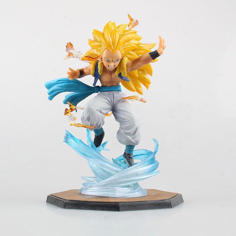 Anime Figurine Super Saiyan 3 Gotenks PVC Action Figure DBZ Dragon Ball Z Collectible Model Toy brinqudoes 16cm T200610