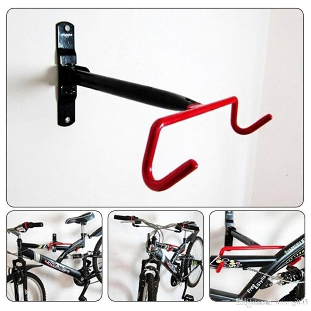 Fixation Pour Velo Garage acheter vélo mur monté garage rack vtt vélos de rangement crochet compact  conception design en acier massif support rack crochet vélo présentoir #