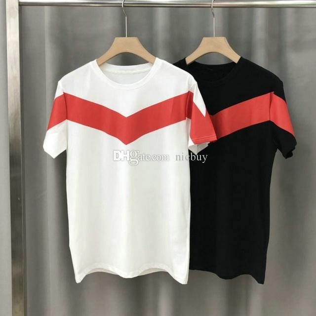 Fashion Designer Give Mens Brand T Shirt Clothing Tshirt Classic Geometry Red Striped Letter Paris Print T Shirt Casual Short Sleeve Tee Top Online Shirts T Shirt Design Online From Nicbuy 22 34