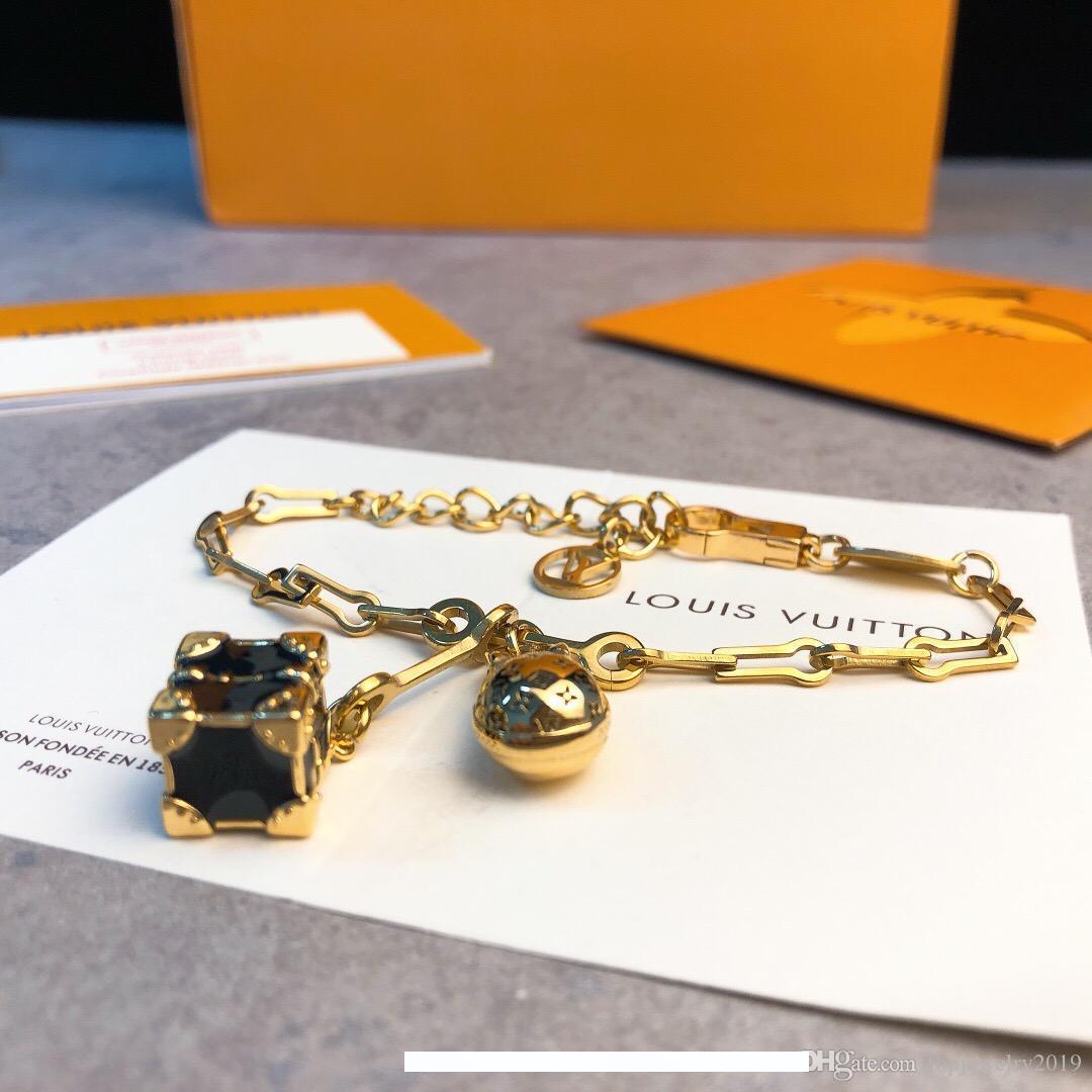роскошные ювелирные изделия женщины дизайнерские браслеты монограмма куб яйцо Шарм браслеты высокого класса золотые брелки элегантный ссылка высокое качество