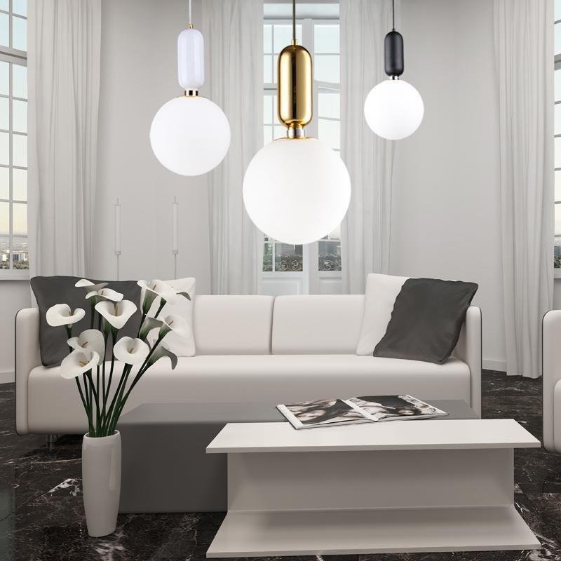 Postmodern Dining Hallway Chandelier Corridor Hallway led Lamp Nordic Simple Bar Table Bedside Single Glass Ball Chandelier Lighting