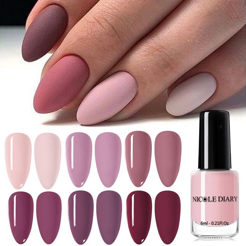 NICOLE DIARIO opaco Effetc smalto Pure chiodo di colore rosa arte grassa vernice del polacco del manicure arte lacca per unghie