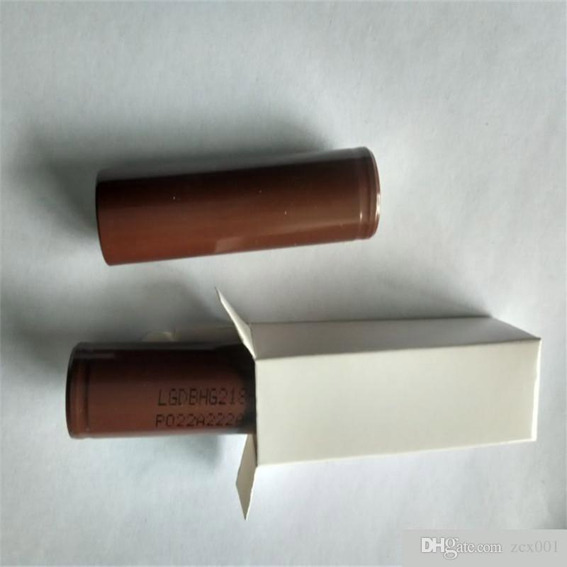 1000pcs Yüksek Kaliteli HG2 3000mAh INR VAPES 18650 LG 18650b Pil E Çığ Mod Şarj edilebilir PK 30Q 25R HE2- HE4 VTC5 VTC4VTC6 Sıcak In Stock