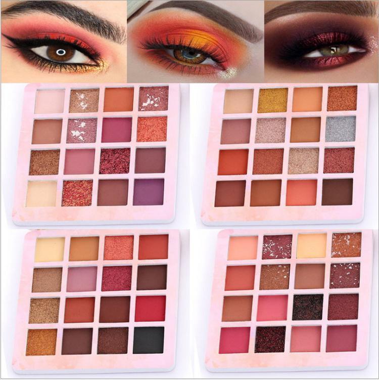 Maquillage 16 couleurs Palette ombre à paune d'ombre étanche Métallique métallique fard à paupières maquettes maquillage maquillage