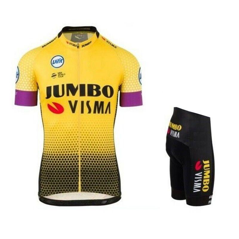 SPTGRVO Lairschdan 2019 Pro Team Visma Radtrikot Set Damen / Herren-Fahrrad MTB Racing Ropa Ciclismo Sommer Bike Bekleidung