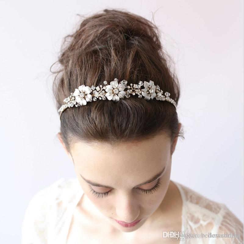 Twigs & Honey Bridal Headpieces Headbands With Pearls Crystals Rhinestones Women Hair Jewelry Hair Accessories For Brides BW-HP040