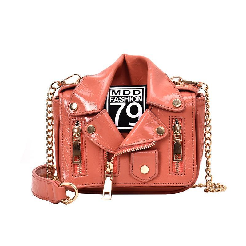 الأوروبي تصميم العلامة التجارية سلسلة حقائب للدراجات النارية ملابس نسائية الكتف برشام زيبر سترة حقيبة رسول حقيبة المرأة حقائب