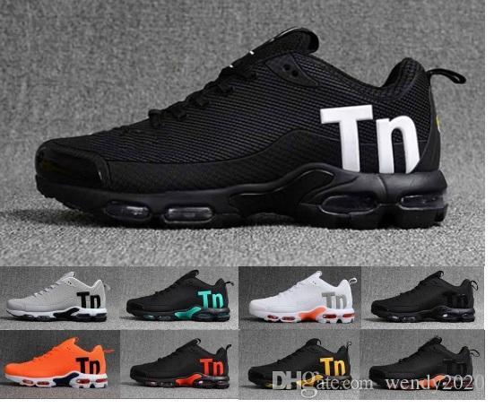 2019 Kadınlar Casual TPU Hava Yastık Siyah Eğitmenler Yürüyüş Chaussures Zapatos Spor Sneakers 36-46 Koşu Ayakkabıları Mercurial TN Erkek Tasarımcı