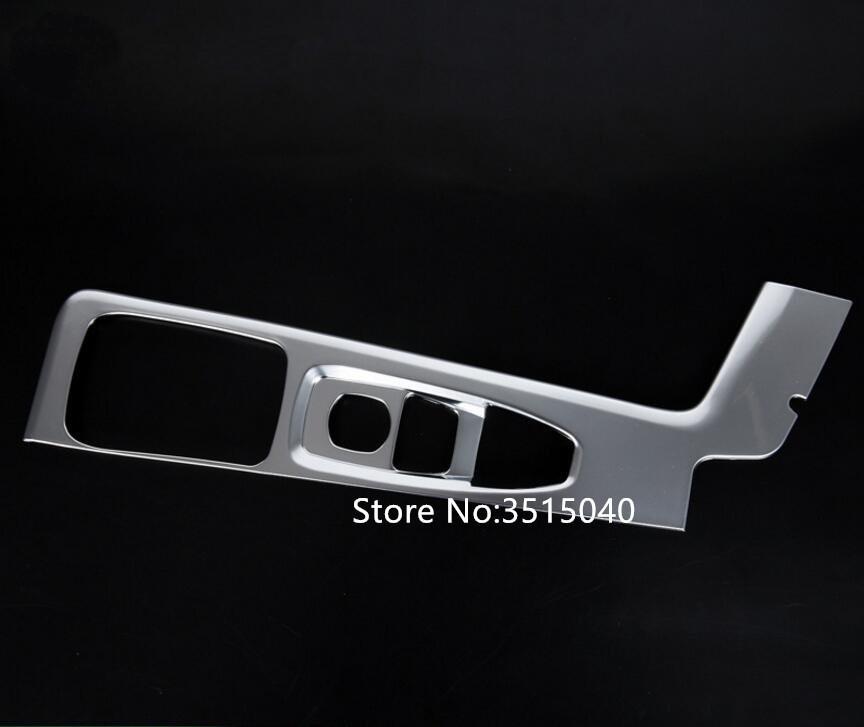 Para XC60 2018 ABS cromado mate engranaje de plata 1 PC del interior del coche perilla del cambio de cubierta de pegatinas panel de ajuste del coche que labra los accesorios
