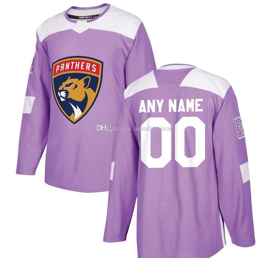 7bd6b030 Compre Personalizado Florida Panthers Camisa De Hóquei Feito Especialmente  Personalizado NENHUM Número Do Nome Dos Homens Das Mulheres Da Juventude  Crianças ...