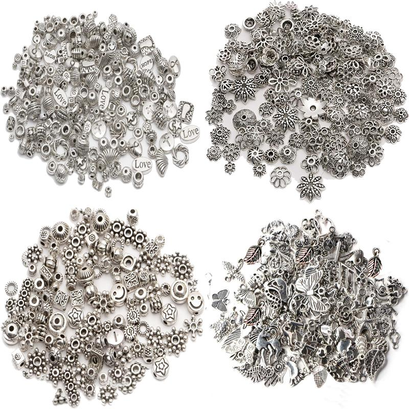 New Lots Tibetan Silver Charms Beads Findings Jewellery Making Mix Crafts DIY